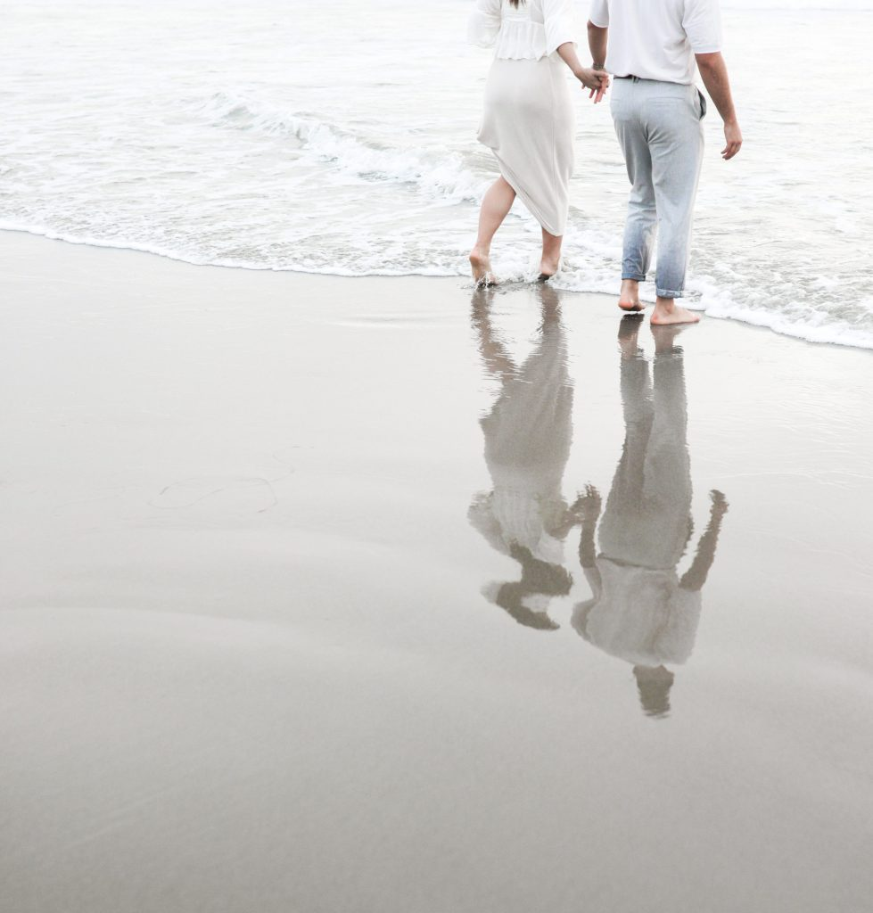 Venice Beach Couple Engagement Photos by Modern and Minimalist Boston, MA and SoCal Los Angeles, CA Wedding Photographer Elopement